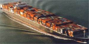 Cellular container ship