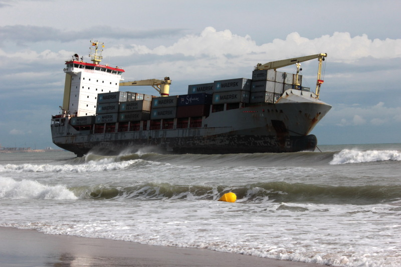 two ships grounded due to storm in spain � officer of the
