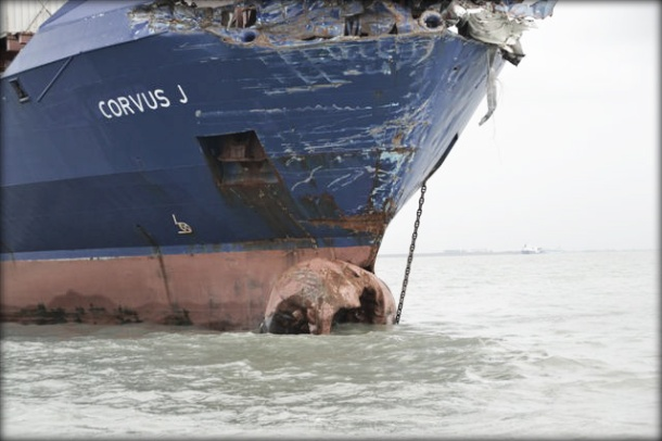 2012.12.05 - Baltic Ace Car Carrier Sinks After Collision with Containership in North Sea Figure 4