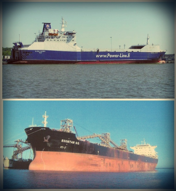 2013.01.07 - RoRo Cargo Ship Collision with Moored Bulk Carrier Figure 1