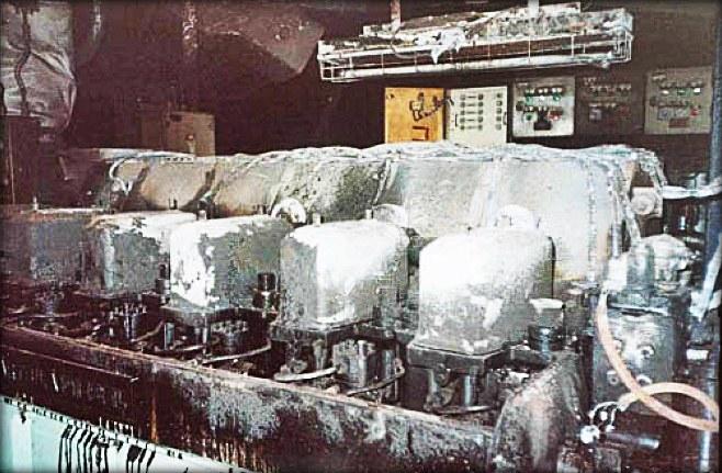 Engine Room Fire Due To Burst Fuel Injection Pipe