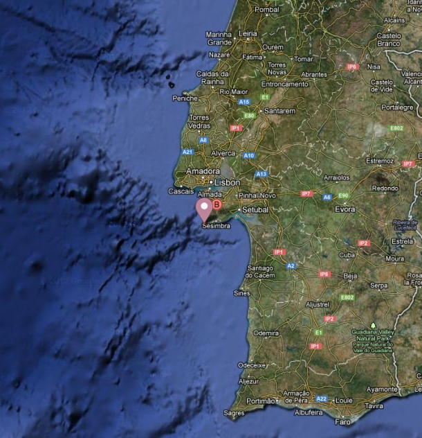 2013.03.07 - Explosion on Tanker Southwest of Cape Espichel Figure 2