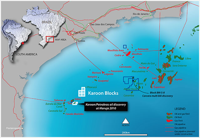 Oil Discovery On The Karoon Blocks Offshore Brazil