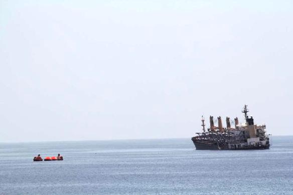 2013.04.01 -  Rescue of Burning Bulk Carrier by NATO Forces Figure 3