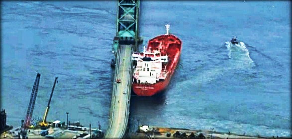 2013.04.02 - Tanker Harbour Feature Allision with Bridge Figure 1