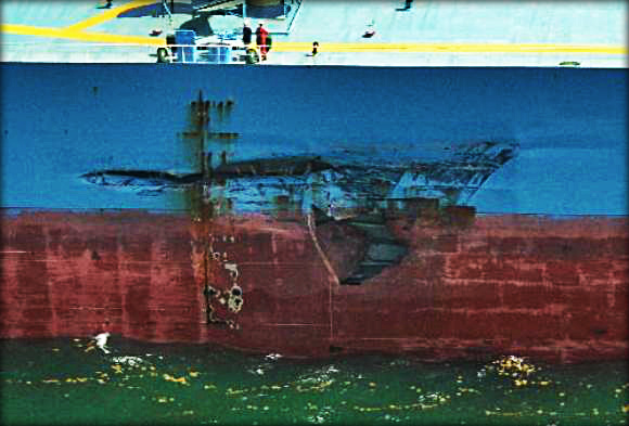 2013.05.31 - Tanker and Bulk Carrier Collide off Galveston Figure 1