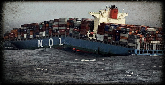 2013.06.18 - MOL Comfort Containership Sinks After Breaking in Two Figure 1