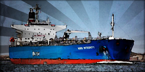 2013.07.24 - NORDEN Tanker Turned Off Engine and Sailed by Wind and Sea Current