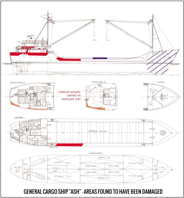 2013.07.15 - Collision Between General Cargo Ship & Chemical Tanker in Dover Strait TSS - Investigation Report Figure 5