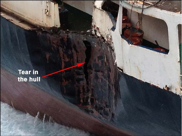 2013.07.22 - Foundering of the General Cargo Ship Tycoon - Investigation Report Figure  6