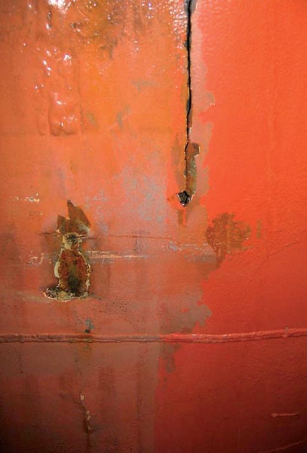 incident information on grooving corrosion on ship u2019s side